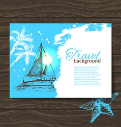 Travel colorful tropical design vector image