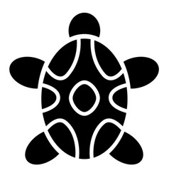 tribal turtle icon simple style vector image