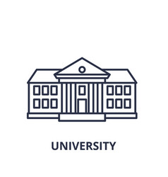 university line icon concept university vector image