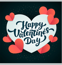 Valentines day greeting card 14th of february vector