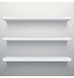 White background shelves vector image