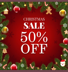 xmas sale poster vector image