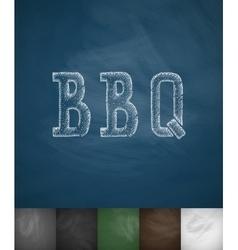 BBQ icon Hand drawn vector image vector image