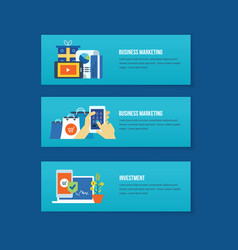 business marketing management analysis planning vector image