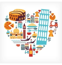 Italy love vector image vector image