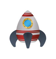 spaceship rocket symbol vector image