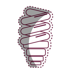 sticker save bulb energy icon vector image vector image