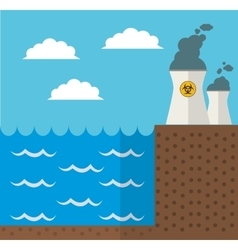 wave energy nuclear plant design vector image