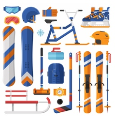 Winter Sport Equipment and Gear vector image