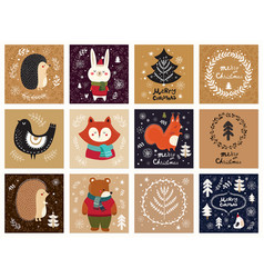 collection of christmas cards vector image