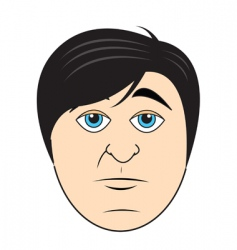 guys face vector image vector image