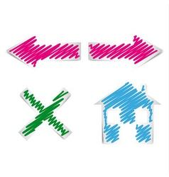 internet browser navigation icons vector image vector image