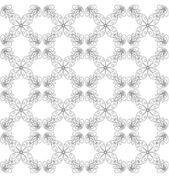 Seamless abstract vintage white pattern vector image vector image
