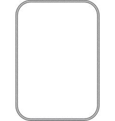 Simple marine frame vector image