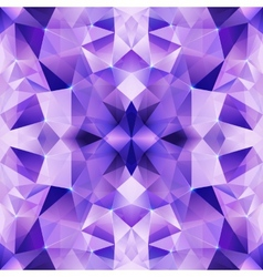 Violet crystal abstract seamless pattern vector image