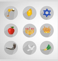 jewish holiday hanukkah background vector image
