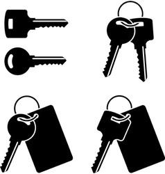 set of keysfirst variant vector image vector image