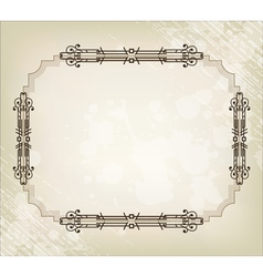 vintage border frame vector image
