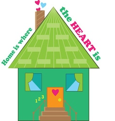 Where Heart Is vector image vector image
