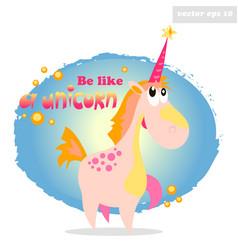 be like a unicorn vector image