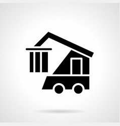 Container loader glyph style icon vector