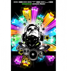 disco flyer for music event vector image vector image