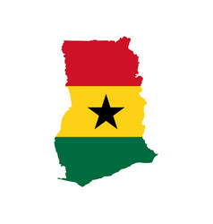 ghana flag and map vector image