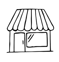 Hand drawn shop icon isolated doodle vector image