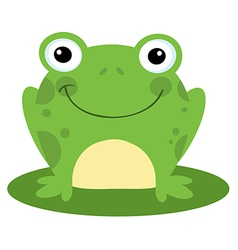 Happy Head Frog Cartoon Character vector image vector image
