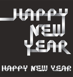 Happy New Year Origami Style vector image