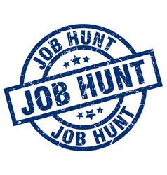 Job hunt blue round grunge stamp vector