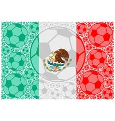 Mexico soccer balls vector image vector image
