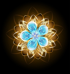 Abstract Turquoise Flower vector