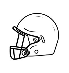 American football helmet side view vector