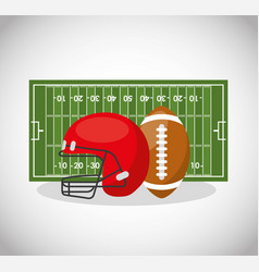 american football sport emblem icon vector image