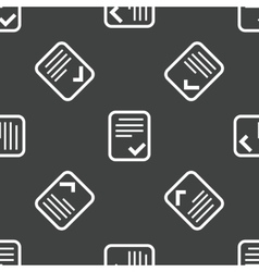 Approved document pattern vector image