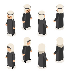 arab traditional national ethnic muslim female vector image