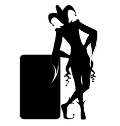 Black silhouette a joker vector