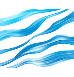 blue color water abstract smooth wave curve flow vector image
