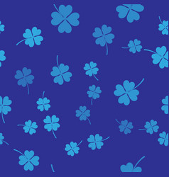 blue four leaf clover icon isolated seamless vector image