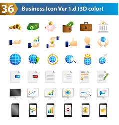 Business icon 3d vector