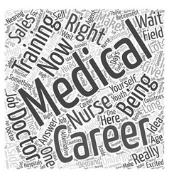 Career Medical Training Word Cloud Concept vector image