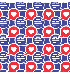 chat dialog speech clouds cute seamless pattern vector image