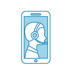 contact support customer service smartphone online vector image