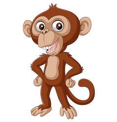 cute bachimpanzee cartoon posing vector image
