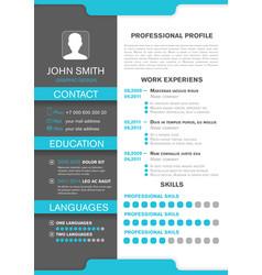 Cv personal profile professional resume design vector