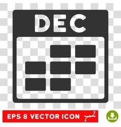 December Calendar Grid Eps Icon vector