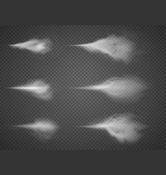 Deodorant atomizer fog set water aerosol vector