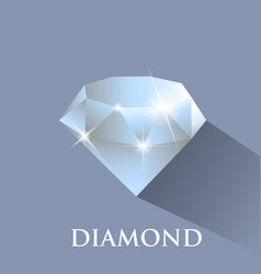 Diamond design with long shadow vector