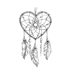Dreamcatcher Heart vector